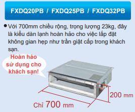 Máy lạnh trung tâm Daikin VRV IV Loại giấu trần nối ống gió dạng mỏng FXDQ-PB/NB