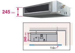 Máy lạnh trung tâm VRV IV S Daikin Giấu trần nối ống gió áp suất trung bình FXSQ-PA