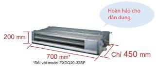 Thiết kế - Máy lạnh trung tâm VRV IV S Daikin Giấu trần nối ống gió dạng mỏng FXDQ-PD/ND
