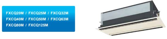 Máy lạnh trung tâm Daikin VRV IV Cassette âm trần 2 hướng thổi FXCQ-M