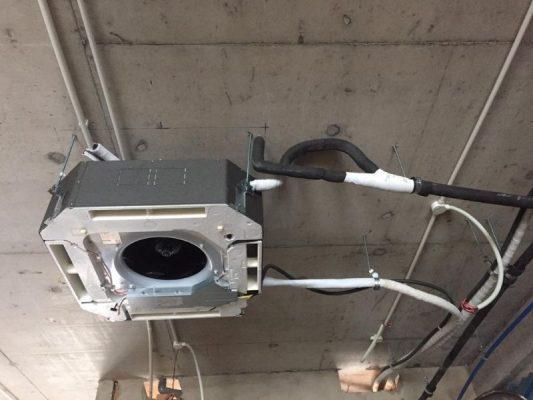 Thi công máy lạnh âm trần tại khu đô thị Vạn Phúc