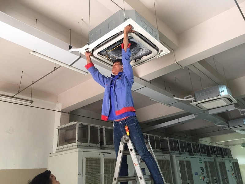 Bảo trì hệ thống điều hòa không khí tại trạm bơm Hóa An
